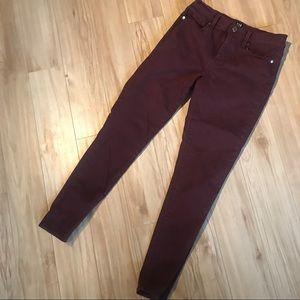 Burgundy Gap Skinny Jeans